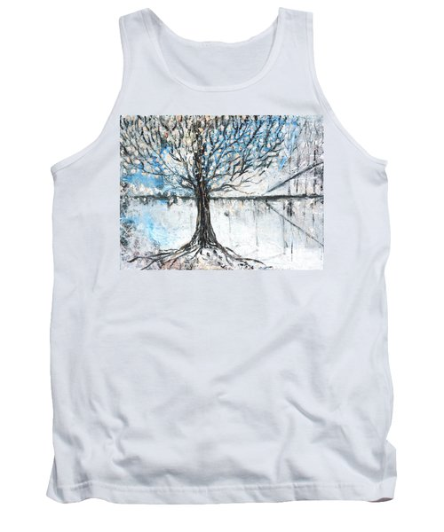 Tank Top featuring the painting Dreamy Spring by Evelina Popilian