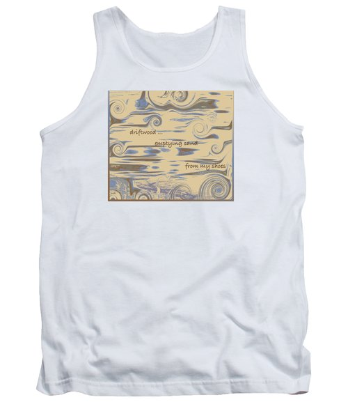 Tank Top featuring the digital art Driftwood Haiga by Judi Suni Hall