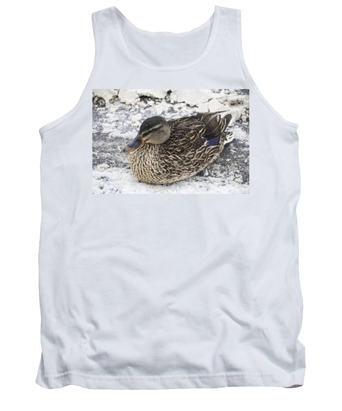 Duck Setting On A Winter Road Tank Top