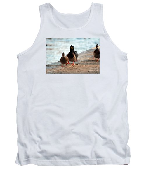 Tank Top featuring the photograph Duck Walk by David Jackson
