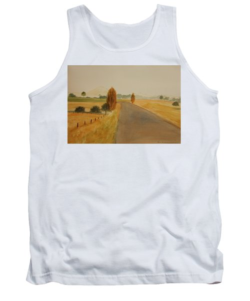 Tank Top featuring the painting Dungog Area Nsw Australia by Tim Mullaney