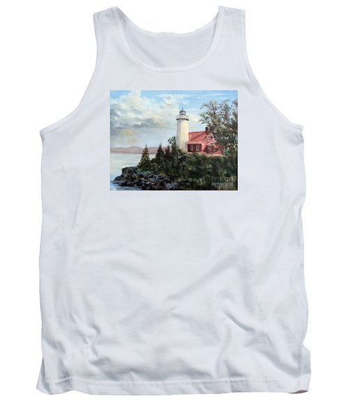 Eagle Harbor Light Tank Top by Lee Piper