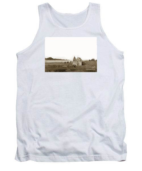 Early Carmel Mission And Point Lobos California Circa 1884 Tank Top by California Views Mr Pat Hathaway Archives