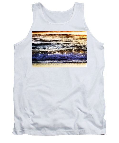 Early Morning Frothy Waves Tank Top