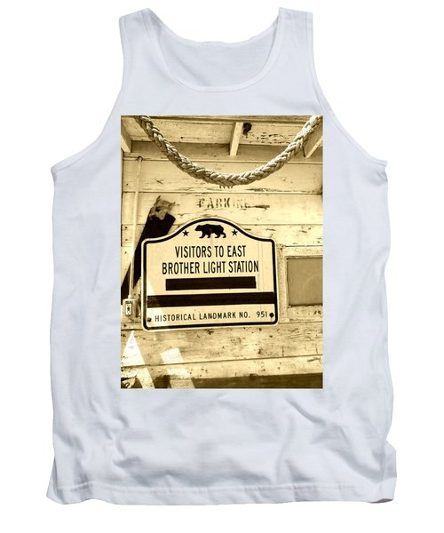 East Brother Light Station Visitor Sign Tank Top