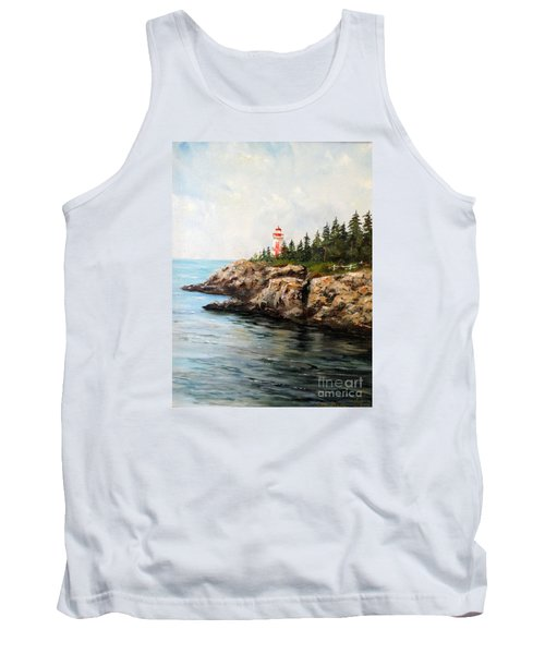 Tank Top featuring the painting East Quoddy Head Light by Lee Piper