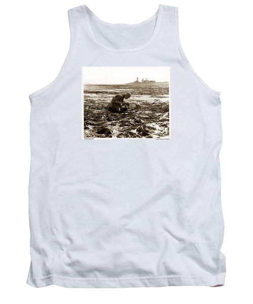 Ed Ricketts At Point Wilson Lighthouse In Port Townsend Wa 1930 Tank Top