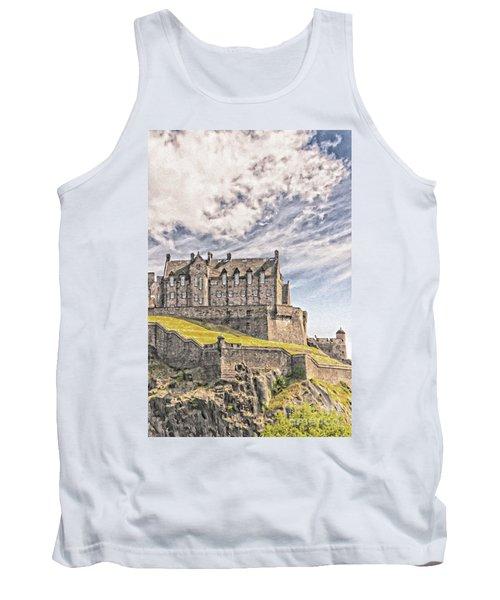 Edinburgh Castle Painting Tank Top