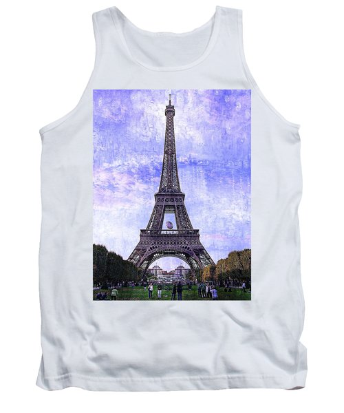 Tank Top featuring the photograph Eiffel Tower Paris by Kathy Churchman