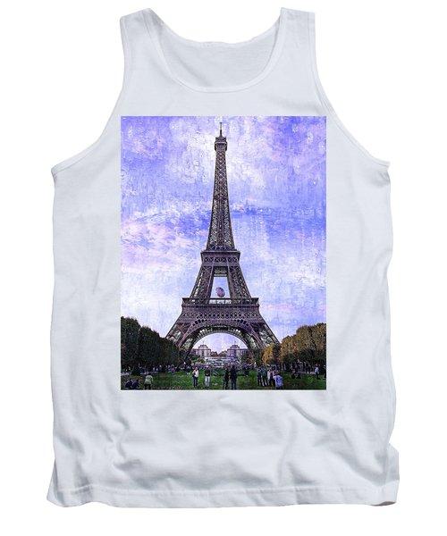 Eiffel Tower Paris Tank Top by Kathy Churchman
