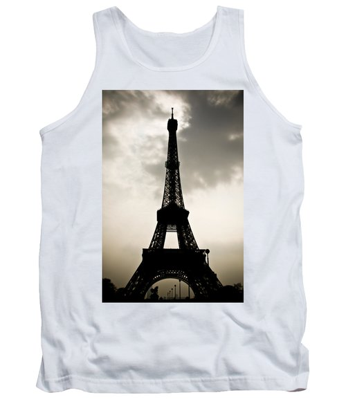 Eiffel Tower Silhouette Tank Top