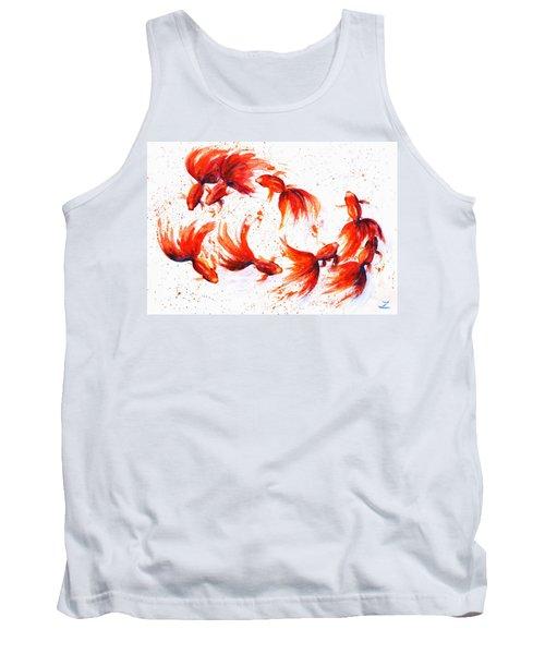 Eight Dancing Goldfish  Tank Top