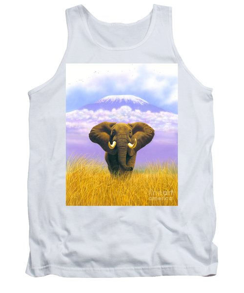 Elephant At Table Mountain Tank Top