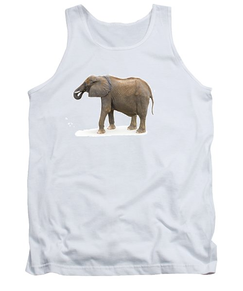 Tank Top featuring the photograph Elephant by Charles Beeler