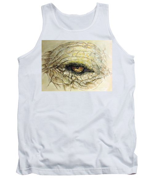Tank Top featuring the painting Elephant Eye by Bernadette Krupa