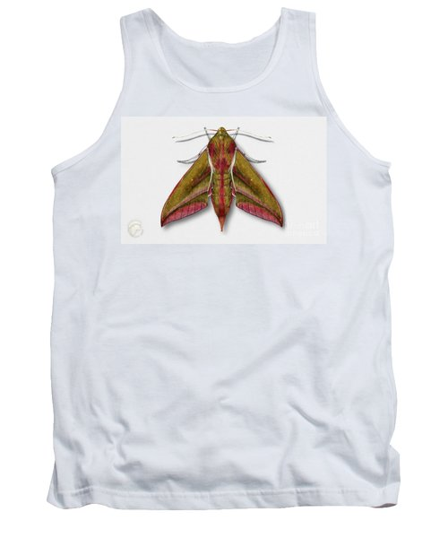 Elephant Hawk Moth Butterfly - Deilephila Elpenor Naturalistic Painting - Nettersheim Eifel Tank Top