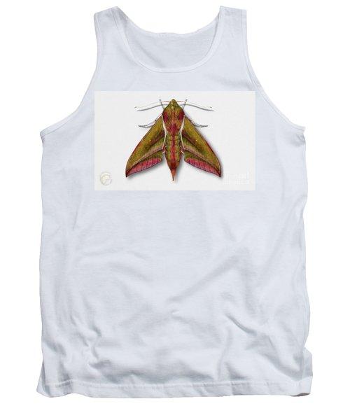 Elephant Hawk Moth Butterfly - Deilephila Elpenor Naturalistic Painting - Nettersheim Eifel Tank Top