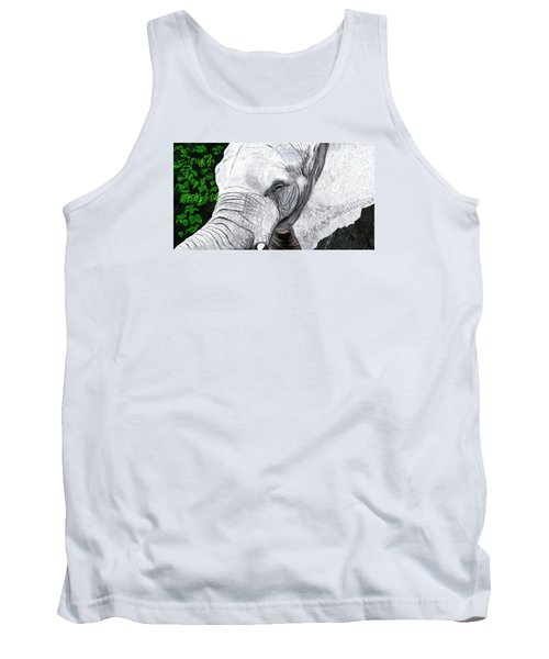 Tank Top featuring the painting Elephant II by Jeanne Fischer