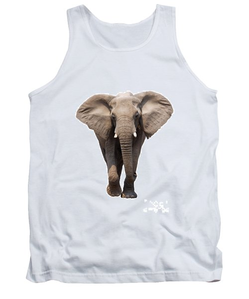 Elephant Isolated Tank Top