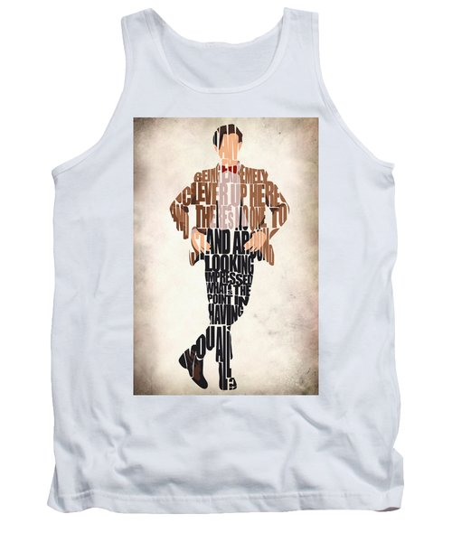 Eleventh Doctor - Doctor Who Tank Top by Ayse Deniz