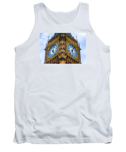 Tank Top featuring the photograph Elizabeth Tower Clock by Tim Stanley