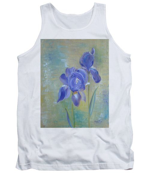 Tank Top featuring the painting Elizabeth's Irises by Judith Rhue