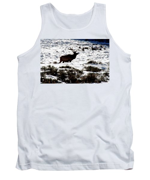 Tank Top featuring the photograph Elk Silhouette by Sharon Elliott