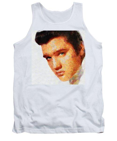 Elvis Presley The King Of Rock Music Tank Top by Georgi Dimitrov