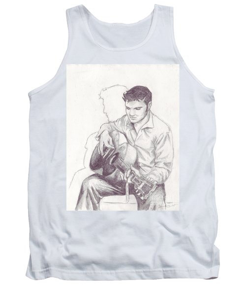 Elvis Sketch Tank Top