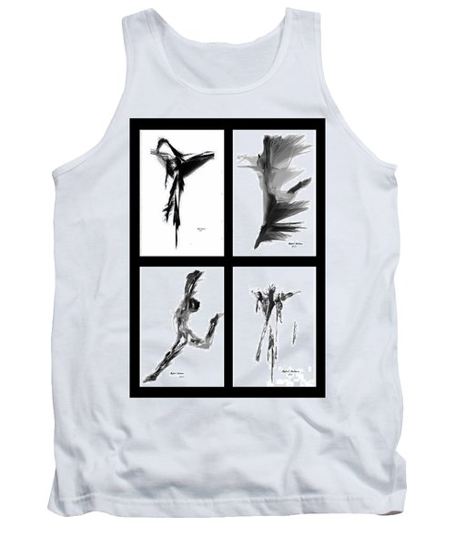 Emotions In Black - Abstract Quad Tank Top