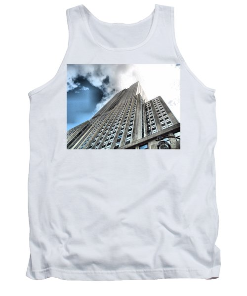 Empire State Building - Vertigo In Reverse Tank Top by Luther Fine Art