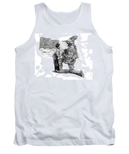 Tank Top featuring the drawing Empty Pockets  by Peter Piatt