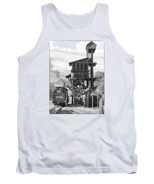 Engine 488 At The Tipple Tank Top by Shelly Gunderson