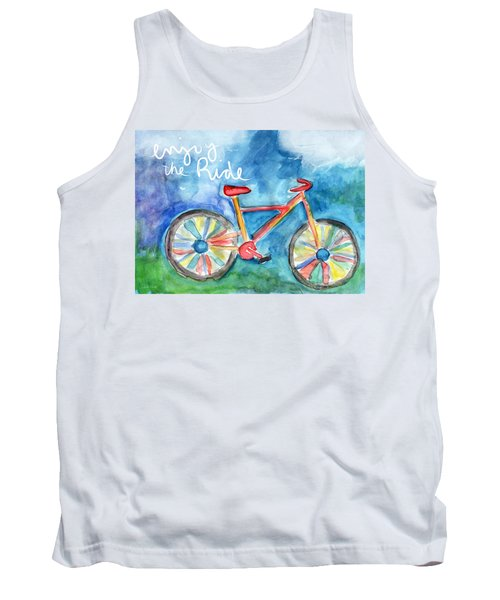 Enjoy The Ride- Colorful Bike Painting Tank Top