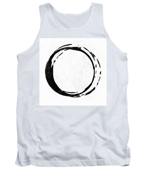 Enso No. 107 Black On White Tank Top