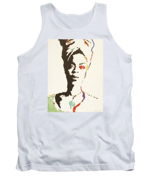 Tank Top featuring the painting Erykah Badu by Stormm Bradshaw