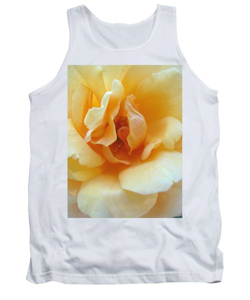 Lightness Of Being - Yellow Rose Macro -floral Art From The Garden Tank Top
