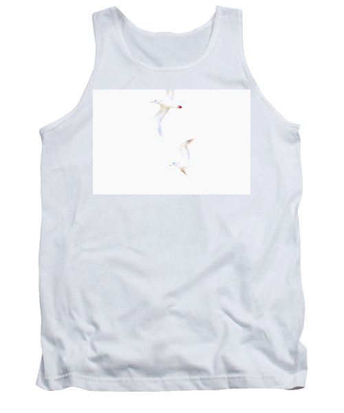 Tank Top featuring the photograph Ethereal Gulls by Peggy Collins
