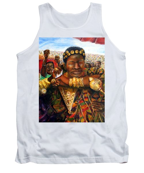 Tank Top featuring the painting Ethiopia Dancing  by Bernadette Krupa