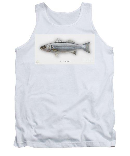 European Seabass Dicentrarchus Labrax - Bar Commun - Loup De Mer - Lubina - Havabor - Seafood Art Tank Top