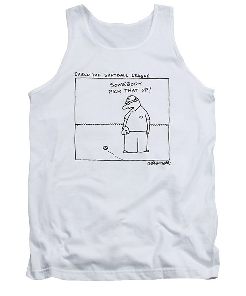 Executive Softball League Tank Top by Charles Barsotti