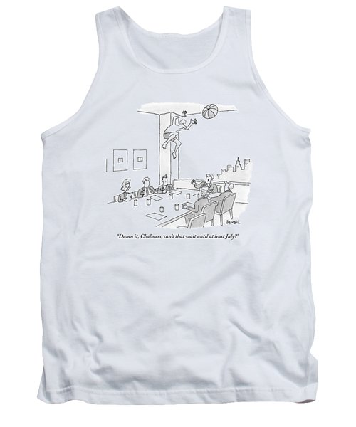 Executives Sitting Around A Conference Table Tank Top