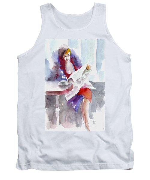 Tank Top featuring the painting Expectation.. by Faruk Koksal