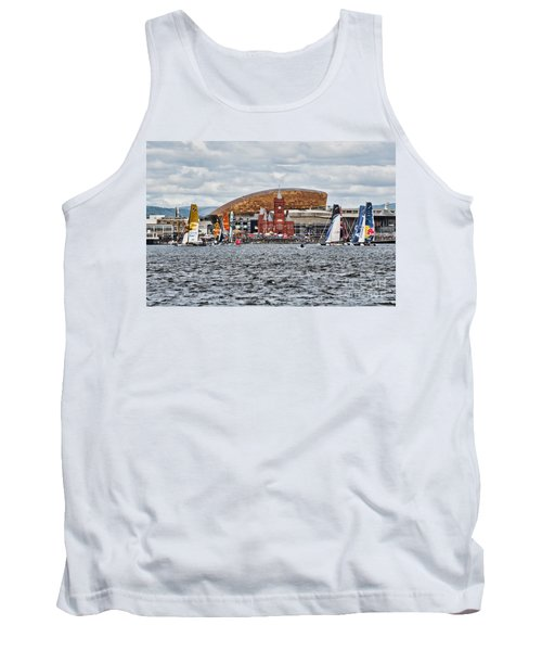 Extreme 40 At Cardiff Bay Tank Top by Steve Purnell