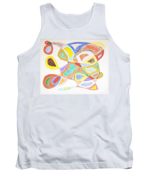 Tank Top featuring the painting Masks by Stormm Bradshaw