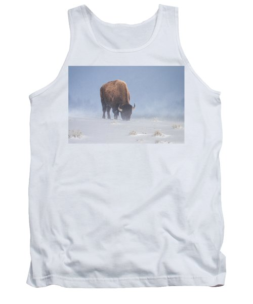 Tank Top featuring the photograph Faces The Blizzard by Jack Bell