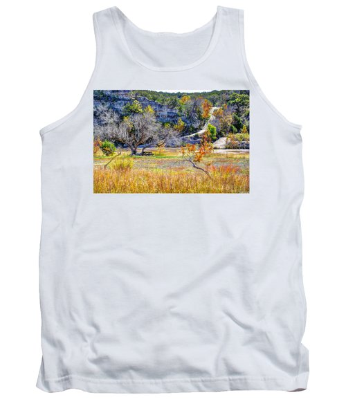 Fall In The Texas Hill Country Tank Top by Savannah Gibbs
