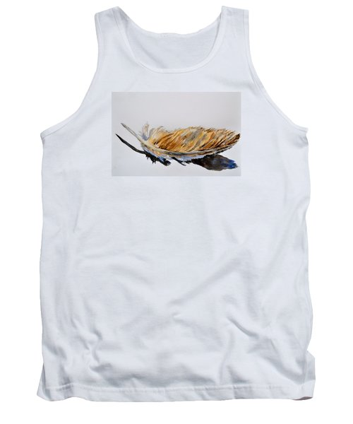 Tank Top featuring the painting Fallen Feather by Beverley Harper Tinsley
