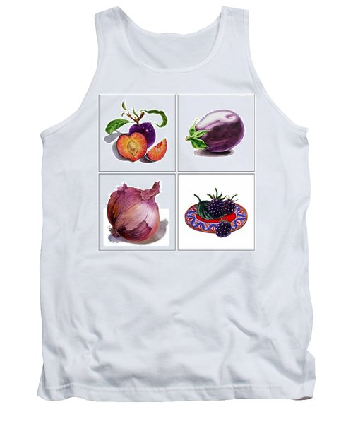 Farmers Market Gifts  Purple Vitamins Tank Top