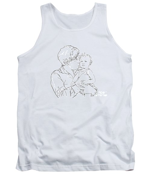 Tank Top featuring the drawing Father And Son by Olimpia - Hinamatsuri Barbu